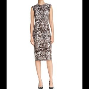(NWT) Donna Karan Animal Print Sheath Dress